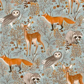 Brown-Forest-Animals linght mint