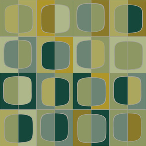 Barcelona grid tapestry - glade