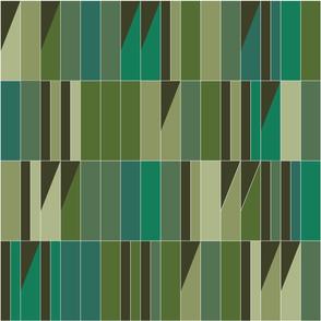 Barcelona stripe tapestry -  forest