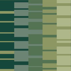 Bauhaus stripe tapestry - forest