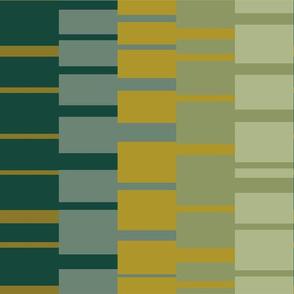 Bauhaus stripe tapestry - glade