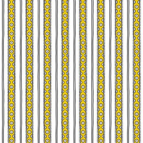 small - dots in yellow on white vertical