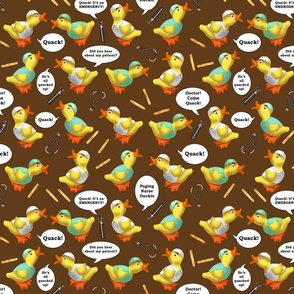 Cute Ducks in Scrubs Brown Cocoa