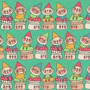 Gnomes On Mushrooms
