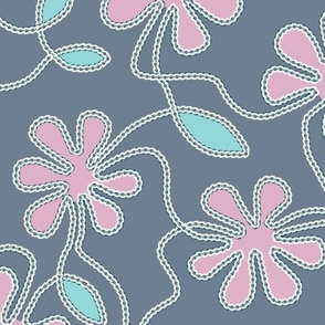 Embroidered Floral Applique
