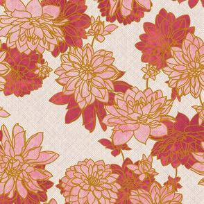 Linen style Dahlias