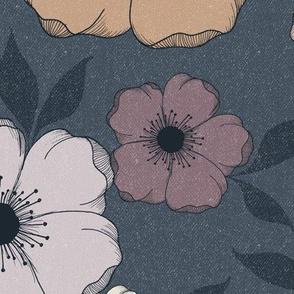 JUMBO Anemone Floral - moody