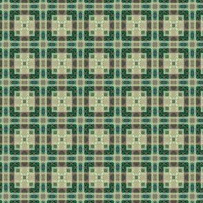 Colorful Green: Mini Prints - Plaid with Squares