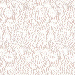 Dashed Waves - blush pink and white - smaller scale - abstract minimalist