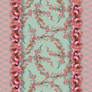 christmas pattern with amaryllis flowers