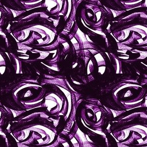 Violet purple teeny scale white modern circles