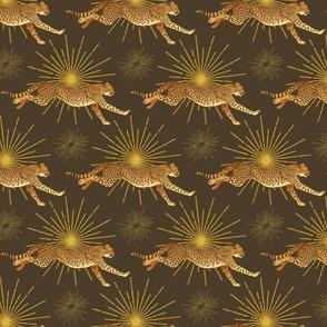 Golden Cheetah In The Sun-Dark Brown