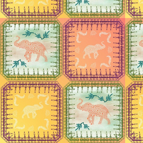 Indian Summer Elephant Tapestry