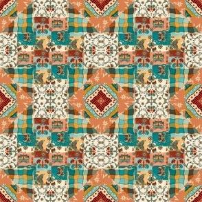 Folk Art Butterflies collection cheater quilt