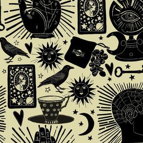 Palmistry, phrenology, tarot and runes
