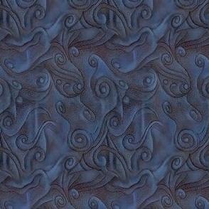 Midnight Blue Swirls to Match Owl Panel