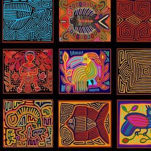 Panama Mola Folk Art Collage - Large Scale
