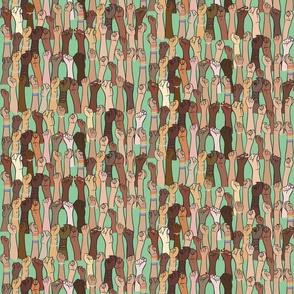 Pink Santa's