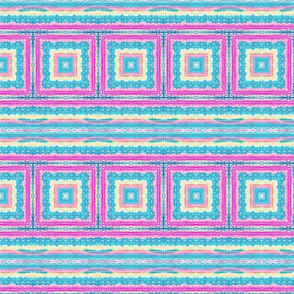 Pastel Kaleidoscope of Whimsey with stripes