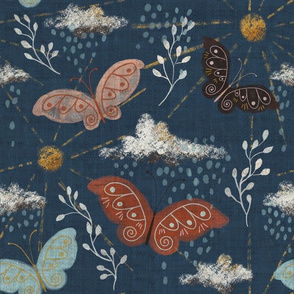 Earth Moths in Dark Blue