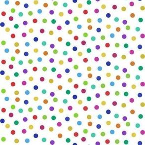 tiny rainbow confetti dots