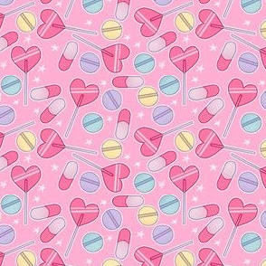 Sucker Pills on Pink