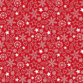 Christmas doodles red
