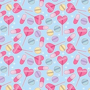 Sucker Pills on Blue