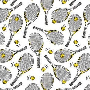 Tennis rackets - small scale