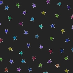Mac's stars on charcoal