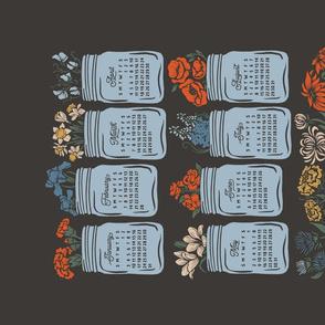 Lamb Illustration's 2021 Birthday Flowers Tea Towel