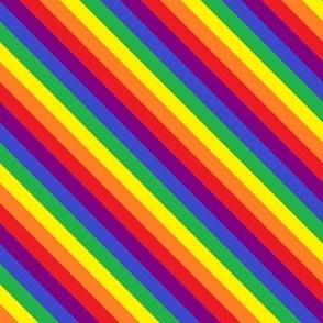 Rainbow Pride Stripes (diagonal)