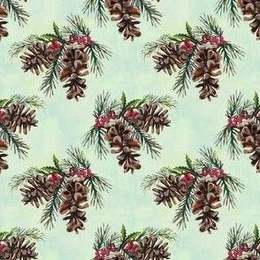 Pinecones and Berries