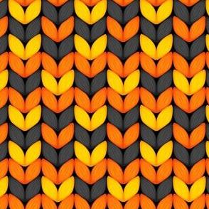 Halloween Knit, Halloween Orange, Knitted Design, Sweater Knit