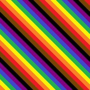 Rainbow Pride Stripes (Philly) (diagonal)