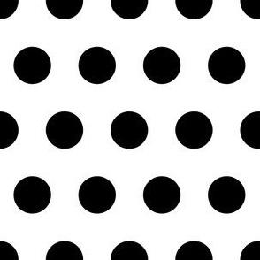 2cm Polka dot Black and White
