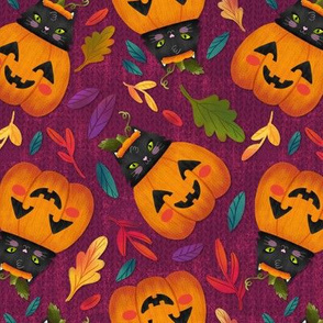 Halloween Pumpkin Kitty