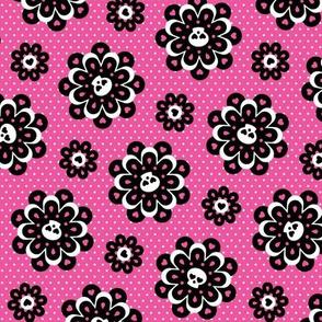 Skull Floral (Pink)