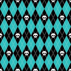 Skull Argyle (Blue)