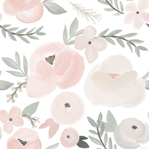 hush little baby soft sweet  florals - large