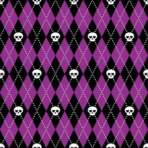 Skull Argyle (Purple)