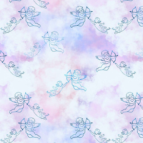 Pastel Clouds and Cherubs