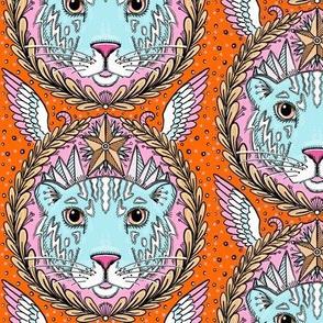 the weird angel tiger doodle