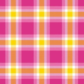 Pink Yellow and White Plaid by Shari Lynn's Stitches