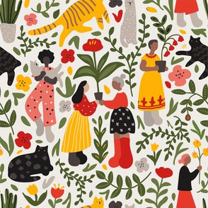 Women, Cats and Plants
