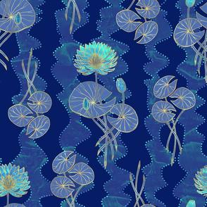 Waterlilies - Blue
