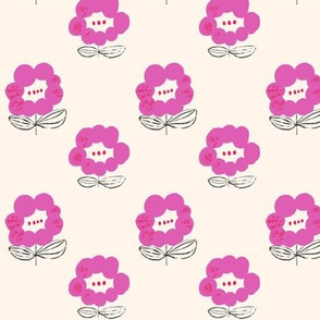 Happy Flower pink-smalll