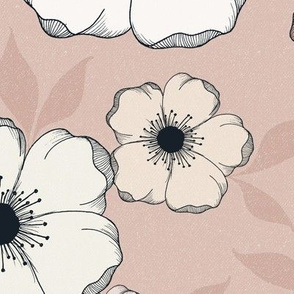JUMBO Anemone Floral - romantic