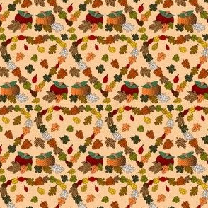 Falling Leaves Heart Fabric
