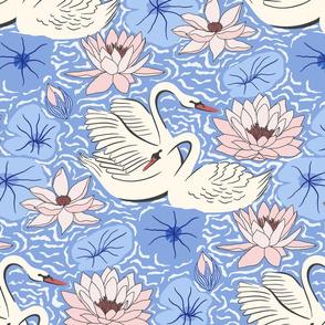 swan lake/blue blush/large